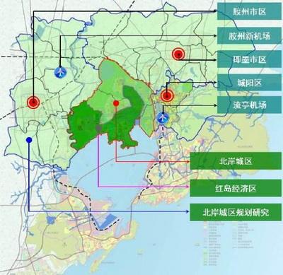 临近机场和港口,是大青岛都市区的空间中枢和